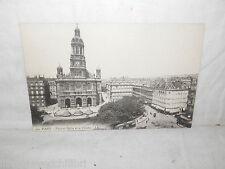 Vecchia cartolina foto d epoca di Paris place et Eglise de la Trinitè veduta