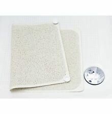 Tapis de salle bain douche blanc baignoire mat venteuse antidérapant PVC 75x45