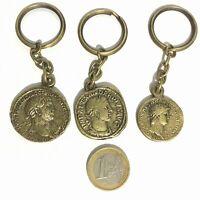Lote de Llaveros con monedas romanas.