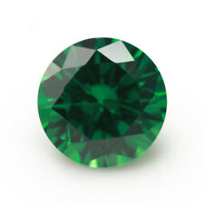 7mm 2.60ct Natural Mined Green Emerald Round Cut VVS Loose Gemstone