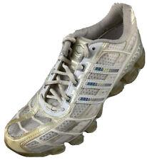 $110 Adidas Bounce Women Size 7.5 White Lace-up Running Training Athletic Shoes