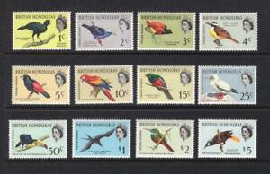 British Honduras 1962 Bird Set - OG MLH - SC# 167-178  Cats $75.60   No Reserve!
