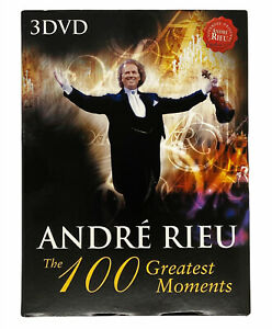 André Rieu The 100 Greatest Moments 3 Disc DVD PAL Violinist EXC + Free Shipping