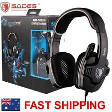 SADES Spider Universal Gaming Headset Microphone Chat Genuine USB RCA 922
