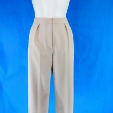 Theory Pantalon Femmes City Taille 4 XS 34 Coupe Droite Business Beige Np 379