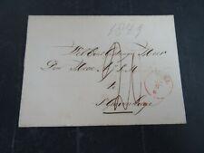 Nederland omslag vouwbrief Tiel - ;s Gravenhage 1849