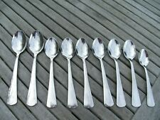 VINTAGE RETRO VINERS STYLISH FLAT DESIGN CUTLERY SPOONS THREE SIZES (9 PIECES)