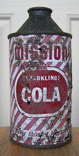 New listing Mission Cola High Profile Cone Top Soda Can, Vancouver, Canada, 12 oz
