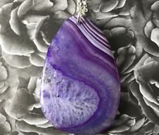 Vibrant Purple Fairyland Agate Druzy Pendant Necklace