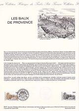 Document Philatélique Timbre 1er Jour : 27/06/ 1987 - Les Baux de Provence