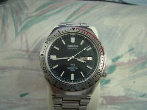 SEIKO SQ Quartz Sports 100 Dive Watch 7123- 8219 running, Good condition
