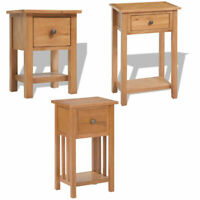 Oak Bedside Table Wooden Cabinet Chest Side Stand Nightstand with Storage Drawer