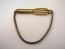 Vintage Tie Bar Clip: Gold Tone Chain 1/20 12KGF