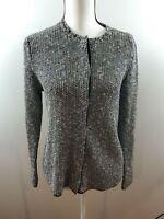 Eileen Fisher Size Small Women's Cardigan Organic Linen Snap Button Up Sweater