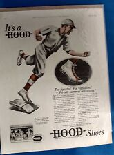 Antique The Companion For All The Family baseball shoes advertising Hood canvas