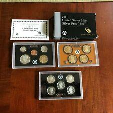 2011-S U.S MINT PROOF SET...14 COINS...WITH OGP//BLACK /& BROWN BOX...COA