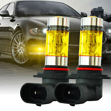 DuraFlux 9145 H10 CREE Yellow LED Fog Light Bulb Kit for Ford F150 99-17 F250