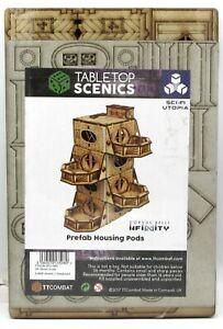 TTCombat TTSCW-SFU-080 Prefab Housing Pods (Sci-Fi Utopia) Infinity Terrain Kit