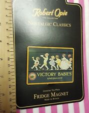 Victory Babies Fridge Magnet tin WW2 sweets Retro Advert Home Front Candy bn