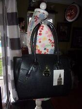 NWT WOMAN'S LONDON FOG BLACK HANDBAG REG $175