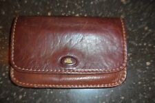 THE BRIDGE GENUINE LEATHER Snap Flap Over Wallet zip Coin