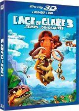Combo Blu-Ray 3D + Blu-Ray + DVD  //   L'AGE DE GLACE 3   //  NEUF cellophané