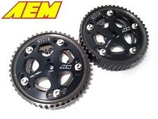 AEM Tru-Time Adjustable Cam Gears Eclipse GST GSX DSM 1G 2G 4G63T Talon (PAIR)