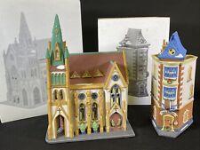 Dept 56 Christmas in the Series All Saints Corner Church & City Clockworks