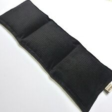 WHEAT BAG HEAT PACK 3 sectioned BLACK CORDUROY -  42 x 14 cm FREE Delivery