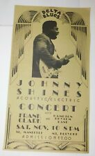 Vintage Mount Holyoke College Memphis Blues Johnny Shines Concert Poster