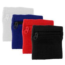 4 Packs Badminton Baseball Wristband Zipper Closure Armband Wallet Pouch for Gym