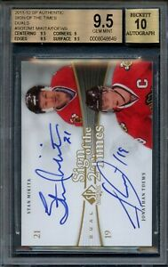2011-12  UD SP AUTHENTIC STAN MIKITA AND JONATHAN TOEWS -   BGS 9.5/10 AUTO
