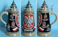 Polska Poland LE German Beer Stein .5L One New Mug Made in Germany Polish Eagle