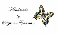 260 White Designed Labels / Address / handmade by /  Design 52 Blue Butterfly