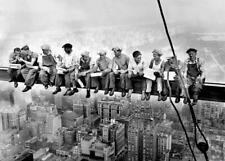 """CUADRO """"Almuerzo en rascacielos"""" New York. Acabado de galería (NUEVO)"""