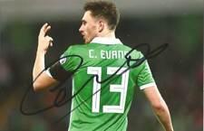 NORTHERN IRELAND & BLACKBURN: CORRY EVANS SIGNED 6x4 ACTION PHOTO+COA
