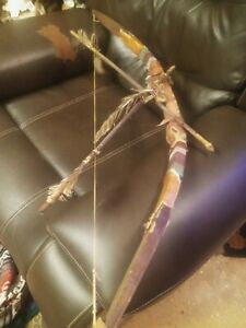 **AWESOME OLD  NATIVE AMERICAN HAND MADE BOW  ARROW SET 1940s SUPER!**