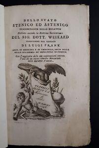 Weikard - Dello stato stenico astenico predominante nelle malattie - Napoli 1796