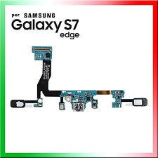 FLAT FLEX USB DOCK CARICA RICARICA SAMSUNG GALAXY S7 EDGE G935F CONNETTORE +MIC
