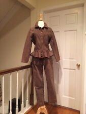 Ferretti Jeans Peplum Jacket & High Waist Jeans Brown Size 42/6