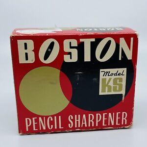 VINTAGE BOSTON PENCIL SHARPENER MODEL KS NOS IN BOX