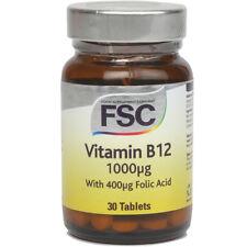FSC Vitamina B12 1000ug + Acido Folico 400ug 30 Compresse * BUY 1 GET 1 FREE *