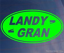 LANDY GRAN Funny Girly Car/Window/Bumper Sticker - Ideal for 4x4 Land Rover