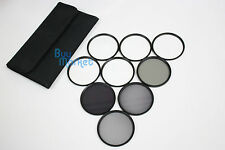 72MM 4X 6X 8X STAR ND2​+ND4+ND8 ND+UV+Soft+CPL FILTER SET with CASE for DSLR DC