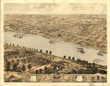 Missouri Vintage Panoramic Maps Collection On Cd
