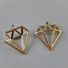 80pcs Gold Alloy Triangle Shape Charms Pendants Crafts Jewelry Findings 38930