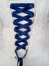 Lacet ruban BLEU NUIT  / 3 mètres - satiné pour robe de mariée/soirée