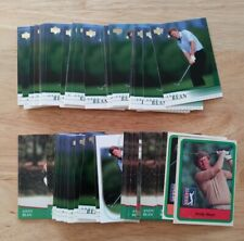 ANDY BEAN LARGE LOT OF 60 OFFICIAL PGA GOLF COLLECTORS TRADING CARDS