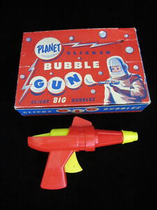 Rare Vintage Space Planet Bubble Gun Ray Pistol With Original Box Made In USA