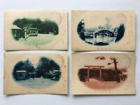 Ise famous place Worship memorial stamp Japanese vintage rare Postcard set #77